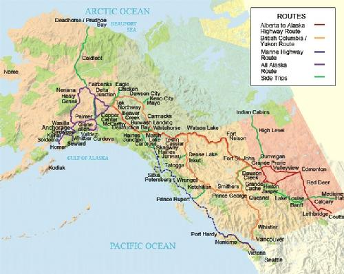 Alaska Canada Highway Map